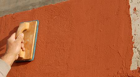 Intonaco di finitura colorato idrorepellente traspirante - Tipi di finitura intonaco esterno ...